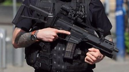 A 54-year-old man was arrested during a police response involving armed officers in Stevenage. File