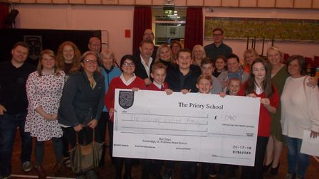 The cheque presentation after the fundraising auction. Picture: Charlotte Havelange