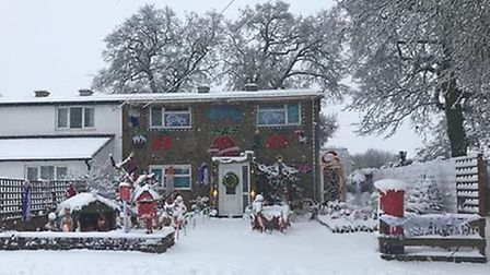 The house is looking that bit more Christmassy now....Picture: Freda Marsh