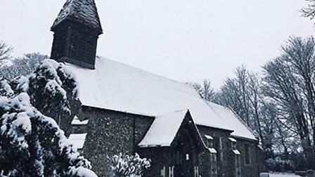 Shephall Green in the snow. Picture: Ingrid Richardson