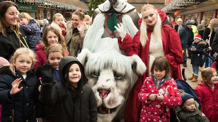 The Snow Lion at Letchworth's Garden Square Shopping Centre. Picture: Emma Fletcher Photography
