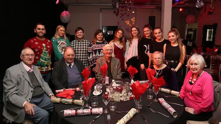 Last year's Christmas lunch and sing-song at Hitchin's Emil Dale Academy. Picture: Danny Loo