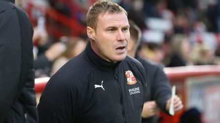 Swindon Town manager David Flitcroft. Picture: Danny Loo