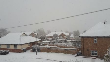 Snow in Colyn Place, Saffron Walden. Picture: SIMON TRIMNELL