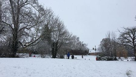 Snow in Dunmow. Picture: CLLR DANIELLE FROST