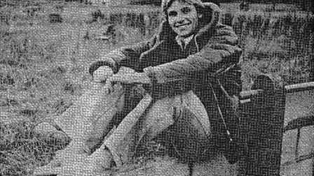 Danny Dance sitting on the wall of the North Stand at Broadhall Way, 1978. Picture: The Comet