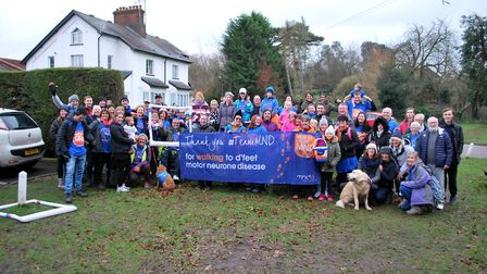 The Letchworth Walks to D'Feet MND team after completing the 12th Greenway walk. Picture: Rob Thornl