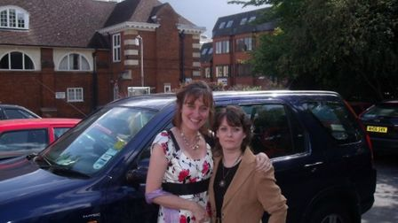 Amanda Brittany (left) will be donating all royalties from her debut novel to Cancer Research UK in