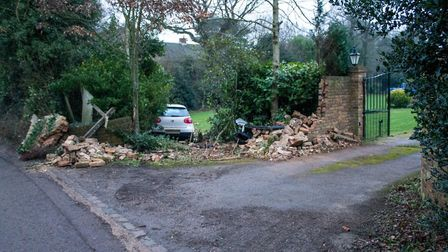 The crash took place in Datchworth near Stevenage yesterday. Picture: Supplied