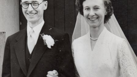 Biggleswade Labour stalwarts Victor and Doris Brunt on their wedding day. Picture: Victor Brunt