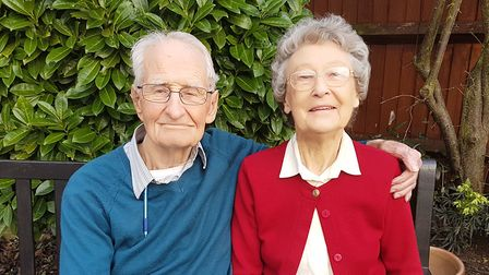 Victor and Doris Brunt today. Picture: North East Bedfordshire Labour Party