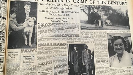 The Herts Advertiser covered the discovery of Ann Noblett's body.