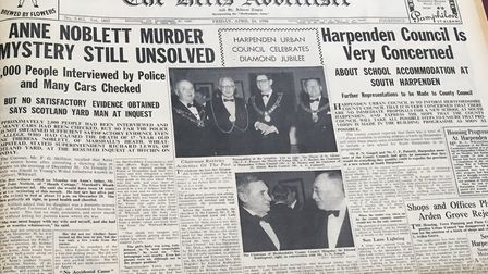 The inquest into the death of Ann Noblett as reported in the Herts Ad.