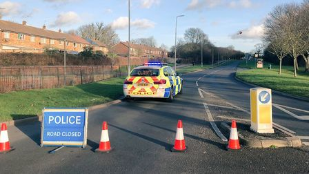 The scene at Six Hills Way in Stevenage. Picture: BCH Road Policing via Twitter