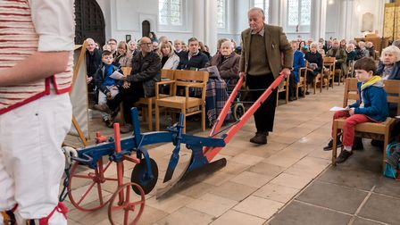 The plough is brought to be blessed