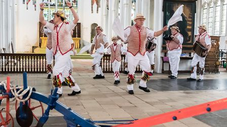 The Morris Men and the plough in Thaxted Church