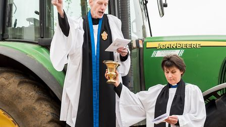 Blessing the tractor