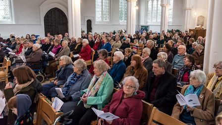The congregation at Thaxted's Plough Sunday