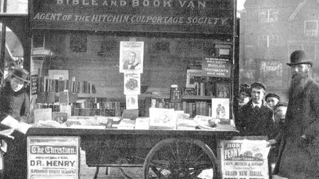 James Rennie with his bookstall at Hitchin market. Picture: Nigel Billingham