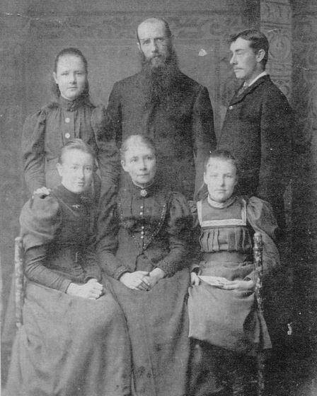 James Rennie with his wife and four children. Picture: Nigel Billingham