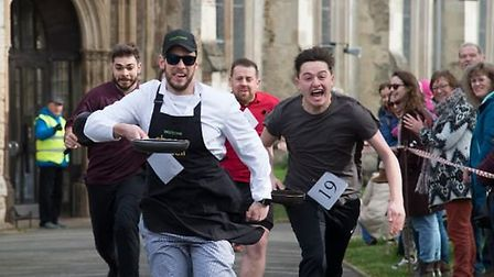 The Hitchin Pancake Day races last year. Picture: Kasia Burke