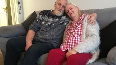 Arline and Peter Sparrow's home got a makeover thanks to Give Back to Stevenage.