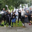 Year 11 students celebrate getting their GCSE results. Picture: Knights Templar School