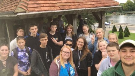 The NCS youngsters planning the Henlow family fun day in aid of Muscular Dystrophy UK.