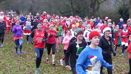 Runners in the Santa Canta. Picture: James Walsh