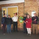 The launch of a new defibrillator at Linton Fire Station. Picture: CAMBS FIRE SERVICE