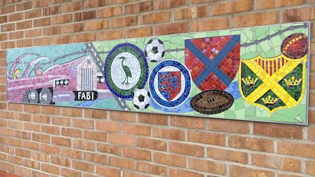 The TV, film, sports and recreation mosaic. Picture: Central Beds Council