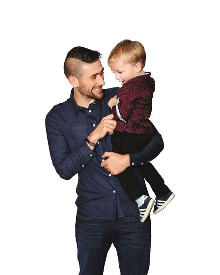 Brendan Wren and his son Freddie will feature in the new Slimming World campaign. Picture: Slimming