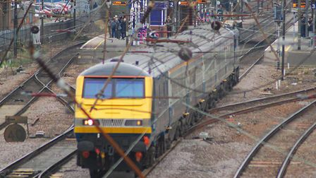 A person was struck by a train between Biggleswade and Sandy, with services suspended.