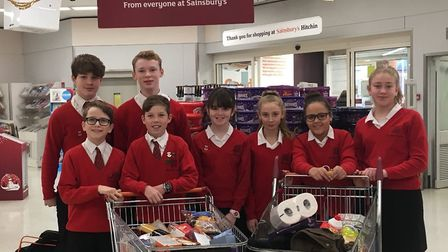 Students at The Priory School raised more than £1,000 and donated 35 bags of food to Trussell Trust
