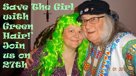 Pete Perry and his wife will be leading the march to 'save the girl with the green hair'. Picture: S