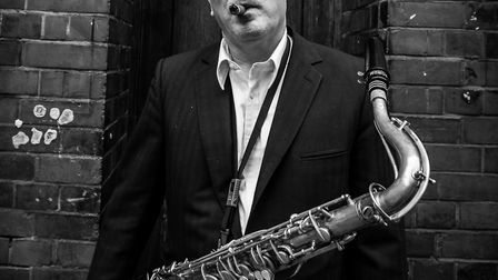 Ray Gelato, pictured with his saxophone, is coming to Hitchin's JazzUP! night on Saturday. Picture: