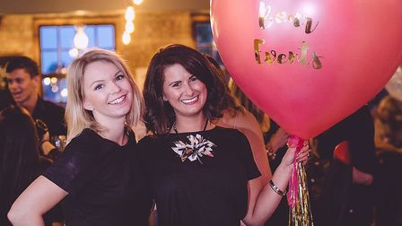 Pink Bear Events co-founders Kerrie Goude (right) and Maddy Griffiths. Picture: Jane Morgan Photogra