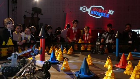 The Robot Rumble is an annual competition run by the Stevenage based firm. Picture: MBDA.