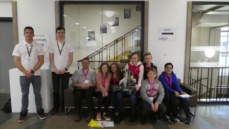 The team from the Nobel School in Stevenage who won the competition. Picture: MBDA