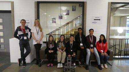 The team from Hitchin Girls School. Picture MBDA.