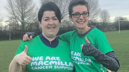 Macmillan Cancer Support fundraisers Melissa Jeeves and Louisa Warner, from Hitchin. Picture: Louisa