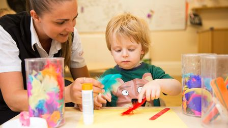 A youngster at Highbury Lodge Day Nursery in Hitchin. Picture: Highbury Lodge Day Nursery