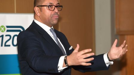 James Cleverly, MP for Braintree speaking at the A120 event. Picture: PAGEPIX LTD