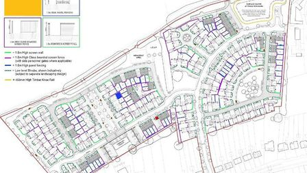 The plan for 149 homes north of Station Road in Lower Stondon. Picture: Bloor Homes
