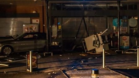 The Co-op in Stotfold was ram raided on Monday night. Picture: localcommunitytv.co.uk