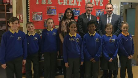 Ofsted national director of education Sean Harford during his visit to Whitehill Junior School in Hi