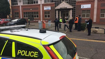 Stevenage Comet office evacuated following bomb scare. Picture: The Comet.