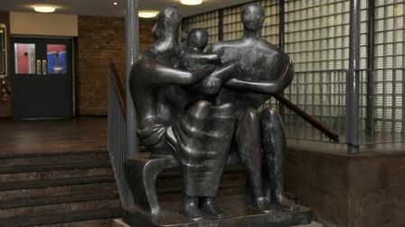 The Henry Moore Sculpture in its new position in Barclay School