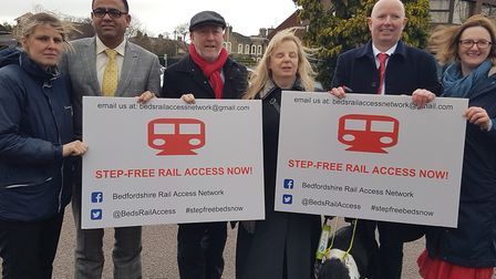 Shadow Transport Minister Andy McDonald MP, Shadow Rail Minister Rachel Maskell MP and Mohammad Yasi