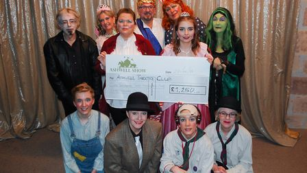 Ashwell Theatre Club is presented with a cheque as one of the Ashwell Show beneficiaries. Picture: A